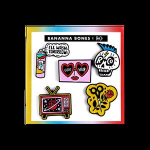 R+Co X Bannana Bones Pins