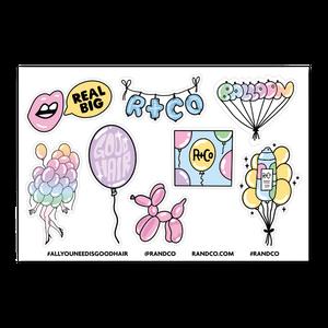 R+Co BALLOON Sticker Sheet