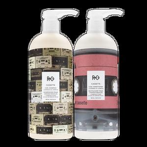 CASSETTE Curl Shampoo + Conditioner Retail Liter Set