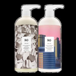 DALLAS Biotin Thickening Shampoo + Conditioner Retail Liter Set SALE