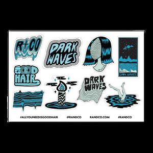 R+Co Dark Waves Sticker Sheet