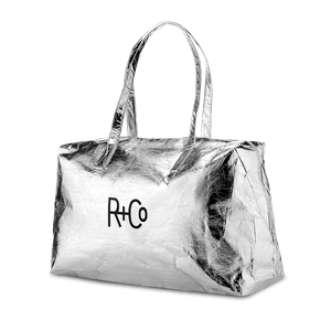 R+Co Silver Duffle Bag