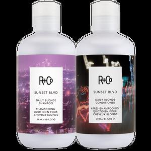 SUNSET BLVD Daily Blonde Shampoo + Conditioner Set