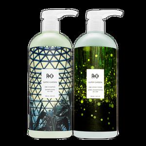 SUPER GARDEN Shampoo + Conditioner Retail Liter Set SALE