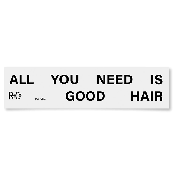 R+Co All You Need Is Good Hair Bumper Sticker