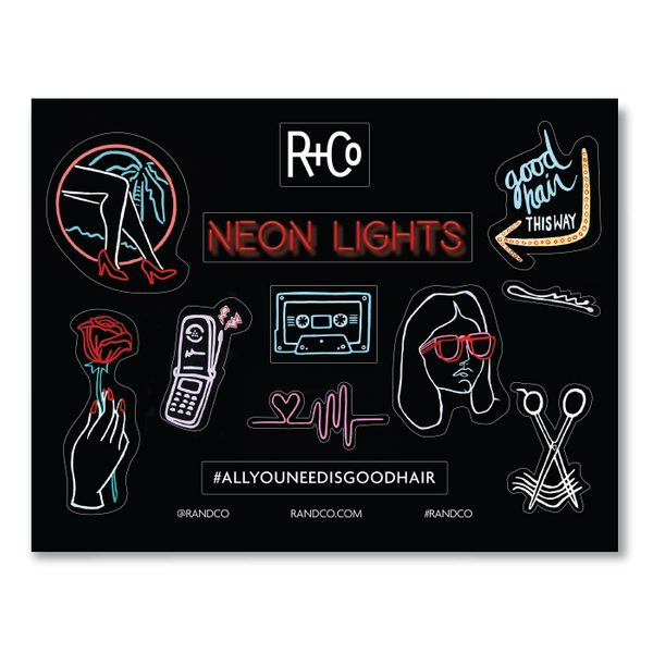 RCO AUGUST 2018 NEON LIGHTS STICKERS