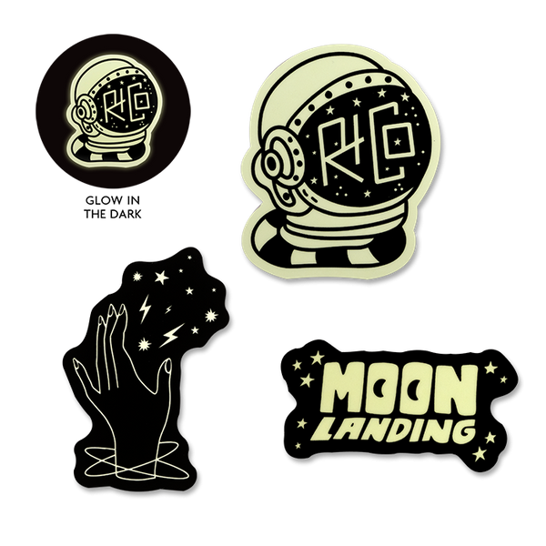R+Co Glow in the Dark Stickers