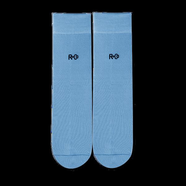 R+Co Blue Socks