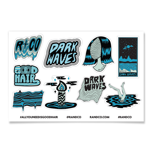 R+Co Dark Waves Sticker Sheet