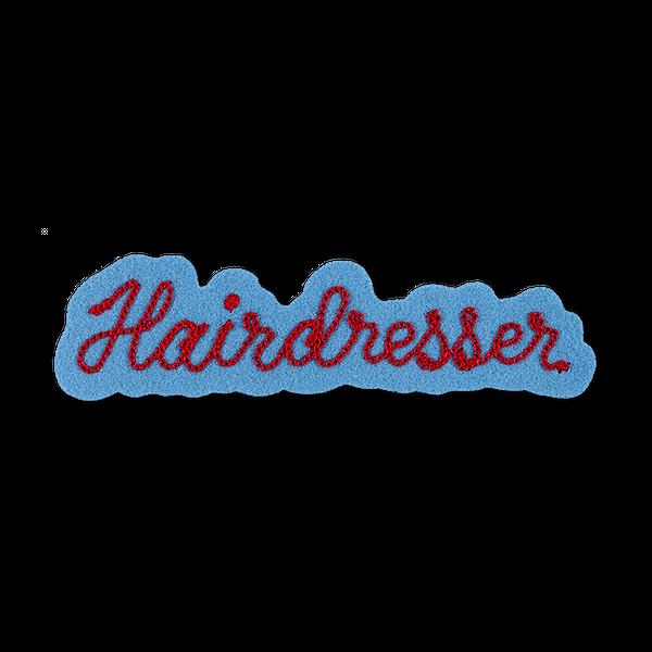 R+Co Hairdresser Chain-stitch Patch