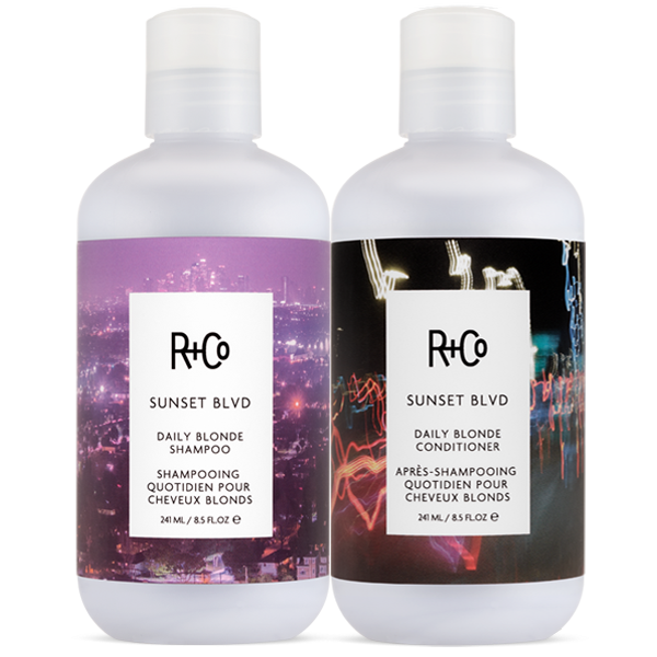 SUNSET BLVD Daily Blonde Shampoo + Conditioner Set