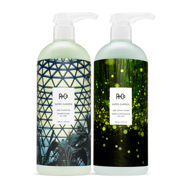 SUPER GARDEN Shampoo + Conditioner Retail Liter Set
