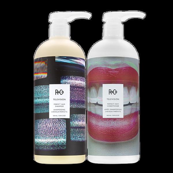 TELEVISION Perfect Hair Shampoo + Conditioner Retail Liter Set