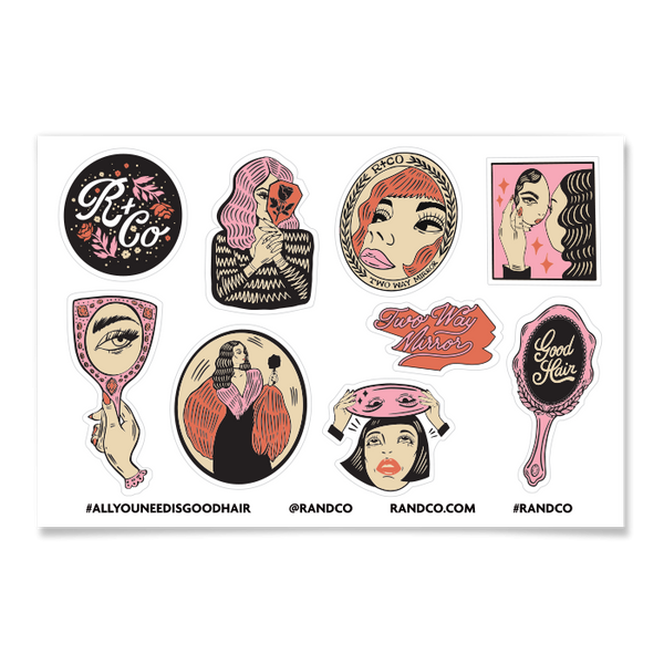 R+Co TWO-WAY MIRROR Sticker Sheet