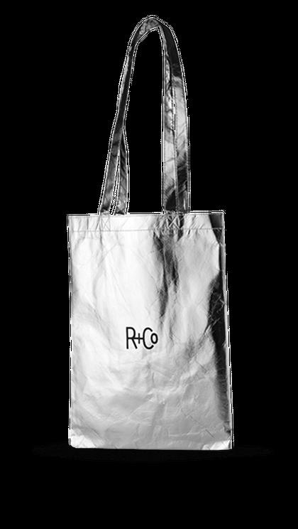 R+Co Silver Tote
